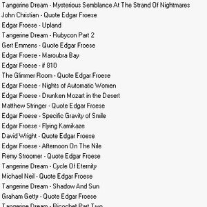 Edgar Froese Tribute