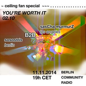 You're Worth It 02.10 / Ceiling Fan Special w/saScha murmurZ
