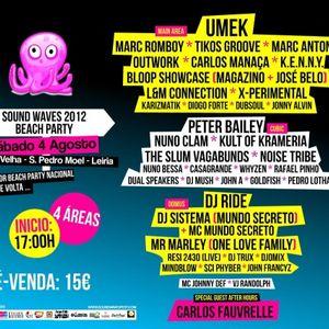 Carlos Manaça - Live @ Sound Waves 2012, São Pedro Moel, Portugal (04.08.2012)