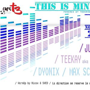 Teekay - This is Minimal (recorded @ CafeT3, Ciney)