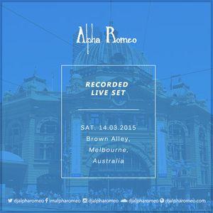 DJ Alpha Romeo Liveset @ Brown Alley (Melbourne, Australia)