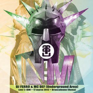 Dj Ferro & Mc Def - Live at I.D.M. - Brancaleone (Roma 17-03-2012)