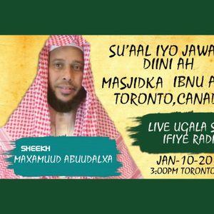 TORONTO IYO TODOBAADKA--SH. Maxamuud Abuu Dalxa-13-01-2016