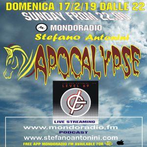 Apocalypse radioshow on Mondoradio 17/02/2019 episode#87 Stefano Antonini
