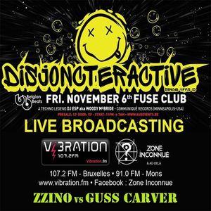 Zzino Vs Guss Carver @ Disjoncteractive 6 Nov 2015 (Fuse) Live Broadcasting