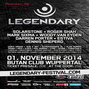 Roger Shah  -  Live At Legendary Festival, Butan Club (Wuppertal, Germany)  - 01-Nov-2014