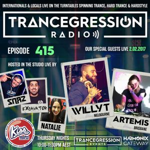 Willy T on Trancegression 415 Kiss Fm Dance Music Australia 02/02/17