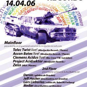 Ascon Bates Liveact @ MINDJACKIN001 Release Party - Triebwerk Dresden 14-04-06