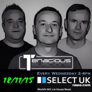 Dave Reeves & Tenacious Live on SelectUK 18/11/2015