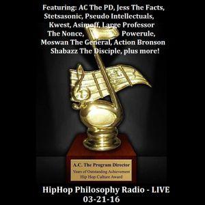 HipHop Philosophy Radio - LIVE - 03-21-16