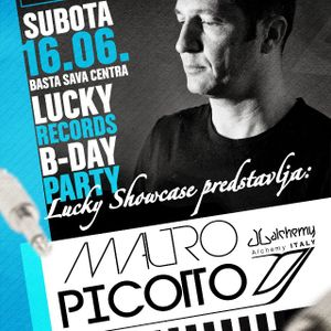Goran Isic @basta Sava Centra with Mauro Picotto Lucky B-Day party 16.06.2012