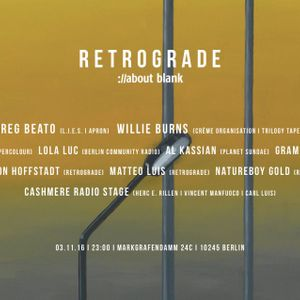 Carl Luis live: Cashmere X Retrograde @ about:blank Berlin 3.11.2016