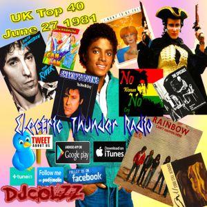 UK Official Top 40 June 27 1981