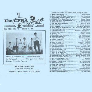 Ottawa Top 40 Chart, May 26, 1967
