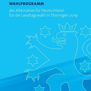 AfD-Programm zur Landtagswahl am 27.10.2019 in Thüringen