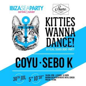 Coyu - Live @ Kitties Wanna Dance Boat Party Ibiza Sea (Spain) 2014.08.01.