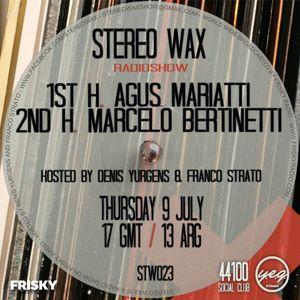 Agus Mariatti @ Stereo Wax July 9 2015
