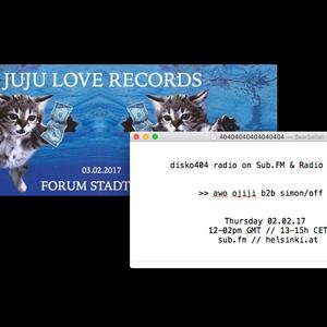 SUB FM / Radio Helsinki - disko404 radio - Simon/off b2b awo ojiji - 02 Feb 2016