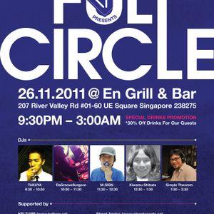 FULL CIRCLE 26th Nov 11: DJ M SIGN _live recording_
