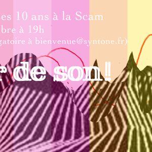 Désir de son ! Syntone à la Scam avec Radio Campus Paris, le 6 novembre 2018