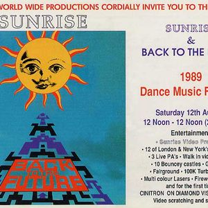 Carl cox sunrise back to the future dance music festival for Dance music 1989