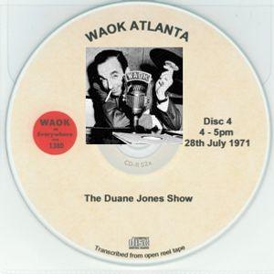 WAOK 1380 Atlanta GA =>> Classic Soul Music with Duane Jones <<= Wed. 28th July 1971 16.00-17.00 hrs