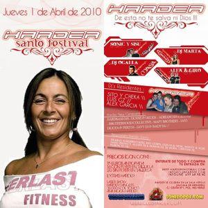 Dj Marta @ Harder Santo (Sala Versus, Alcala de Henares, 01-04-10)