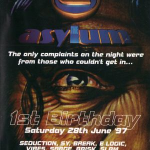 E-Logic - Asylum 1st Birthday, Bowlers, Manchester, (28.6.97)