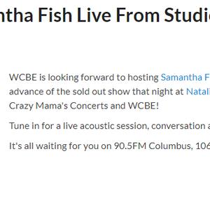 Samantha Fish - Live Performance WCBE-FM Columbus, OH 3/19/2019
