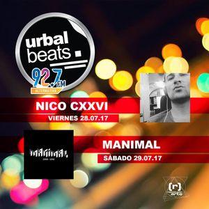28/07/17 Urbal Beats 92.7FM, Ags, MX.