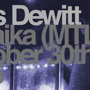 Joss Dewitt @ Laika (MTL) October 30th 2015