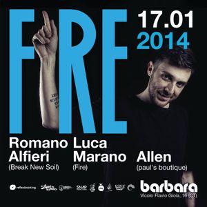 Romano Alfieri @ FIRE | 17.01.14 | Barbara Disco Lab