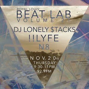 DJ Lonely $tacks - Beat Lab Radio Vol 21- Exclusive Mix