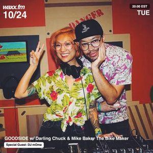 GOODSIDE w/ Darling Chuck & Mike Baker the Bike Maker & Special Guest DJ mOma on @WAXXFM - 10/24/17