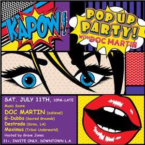 G-Dubbs live at Kapow Pop Up Party