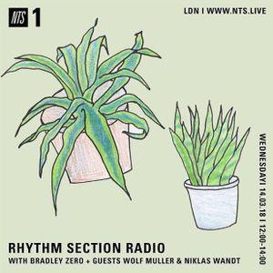 Rhythm Section w/ Bradley Zero, Wolf Müller & Niklas Wandt - 14th March 2018