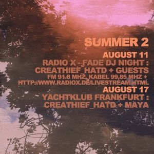 CREATHIEF RADIO-X AUGUST X-FADE DJ NIGHT