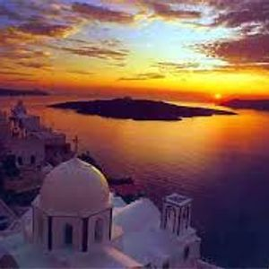 Drinking my coctails and watching the sunset  in Santorini mix by DJ AntMac