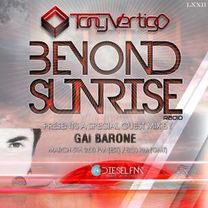 Beyond Sunrise radio…LXXIII with Gai Barone