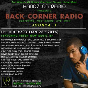 BACK CORNER RADIO: Episode #203 (Jan 28th 2016)