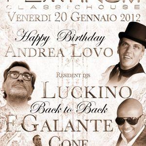 Luckino b2b Francis Galante live from Platinum Classic House 20 01 2012