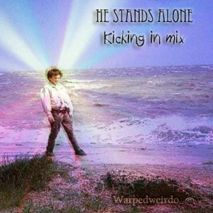 He stands alone, kicking in mix