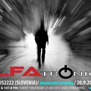 ALFATRONICA RADIOSHOW ON RADIO ALFA; GUEST MIX: SOLARIS2222, 20.9.2012