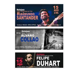 Audio HoloJazz. Raimundo Santander, Álvaro Colláo, cuarteto Klexus, Felipe Duhart