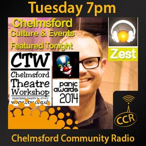 Zest - @ZestChelmsford #ChelmsfordCultureEvents - Matt Willis - 29/04/14 -Chelmsford Community Radio
