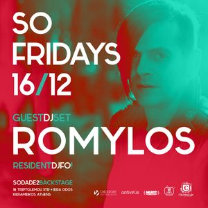 SO FRIDAYS @ SODADE2 / 16 DEC / 2016