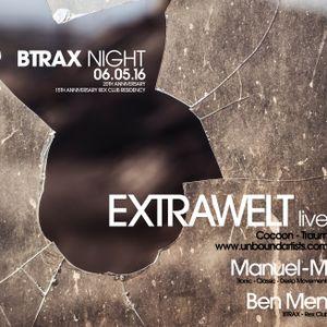 Manuel-M Dj Set @ Rexclub (FR) - Btrax 20th anniversary 06/05/2016 Manuel-M / Extrawelt / Ben Men)