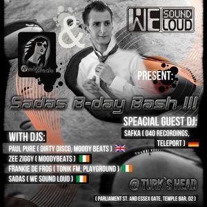 Zee Ziggy - Special For Sadas B-day Bash @ Turk's Head, Dublin ( Warm Up Set)