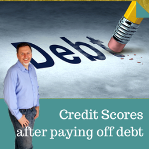 What happens to my credit score after paying off debt?