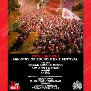 Live @ Ministry of Sound, London (20.06.2015)